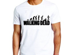Camiseta infantil ou adulto the walking dead evolution