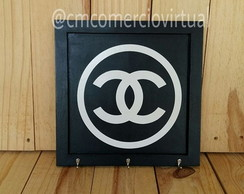 Porta Chaves Chanel Inspired Mdf Preto