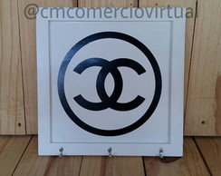 Porta Chaves Chanel Inspired Mdf Branco