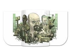 Caneca Breaking Bad Personagens Séries