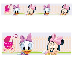 Adesivo border infantil Baby Disney Margarida Minnie Mod022