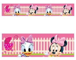 Adesivo border infantil Baby Disney Margarida Minnie Mod023
