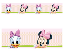 Adesivo border infantil Baby Disney Margarida Minnie Mod024