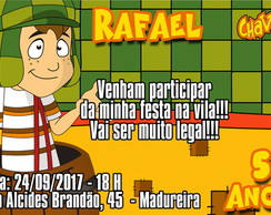 CONVITE DIGITAL TURMA DO CHAVES