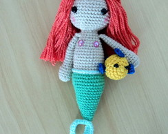 Mini Ariel + Linguado de crochê amigurumi mini