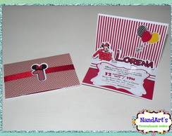 Convite pop up - Minnie Vermelha