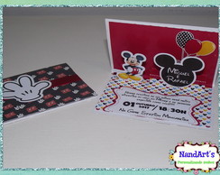 Convite pop up - Mickey