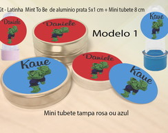 Kit Latinhas e Mini Tubetes-Hulk
