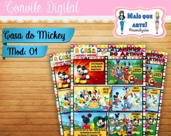 Convite Digital A Casa do Mickey