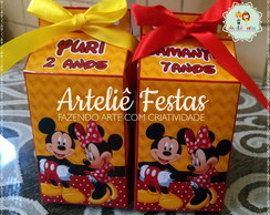 Caixa Milk - Mickey e Minnie