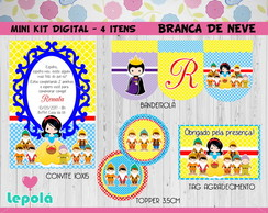 Mini Kit Festa Digital - Branca de Neve