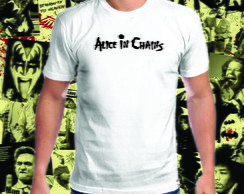 Camiseta branca Alice in Chains 100% Algodão 01