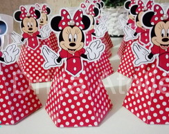 Tubete Saia Scrap Minnie Vermelha