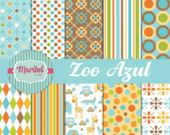 Papel Digital - Zoo Azul