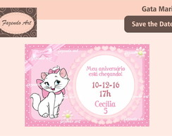 Arte digital p/ Save the Date Gata Marie