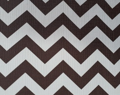 PVC Chevron Chocolate