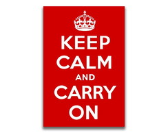 Placa decorativa - KEEP CALM AND CARRY ON