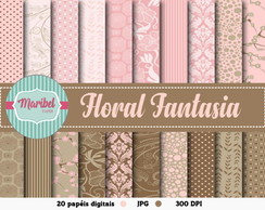 Papel Digital - Floral Fantasia