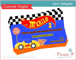 Convite Digital Hot Wheels