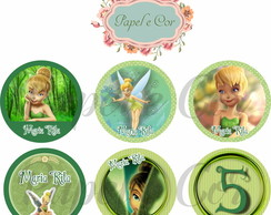 Tag/Topper Tinker Bell ou Peter Pan - Arte digital