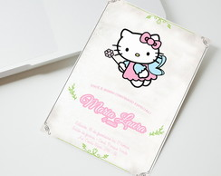 Convite Digital Hello Kitty