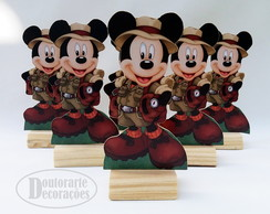 kit 6 mini display TEMA MICKEY SAFARI