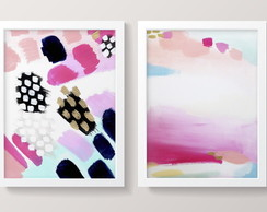 Quadro Mdf | Abstrato Pink Glam
