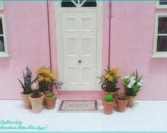 Miniatura vaso planta artificial casa LOL Polly Barbie GiJoe