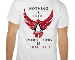 Camiseta Branca Assassins Creed