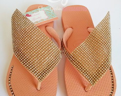 Havaianas Top Customizado Manta Extra Grande de Strass