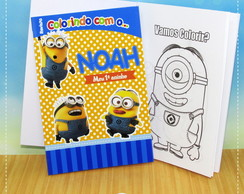 Kit Colorir Minions {Lapela}