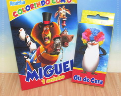 Kit Colorir Madagascar