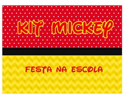 Kit Mickey Festa na Escola