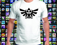 Camiseta branca The Legend of Zelda 100% Algodão 01