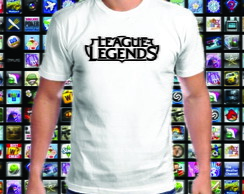 Camiseta branca League of Legends 100% Algodão 01
