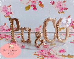 Vela de letras Tiffany e Co.