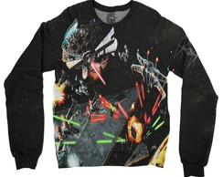 Moletom Raglan Unissex Star Wars 7 Battle