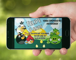 Convite/Arte digital - ANGRY BIRDS