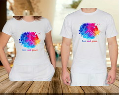 Kit Camisetas Peace and Love