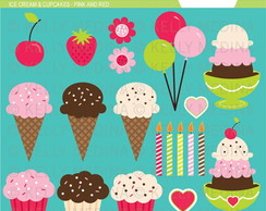 Kit Digital Scrapbook Confeitaria Doces 19