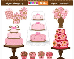 Kit Digital Scrapbook Confeitaria Doces 51