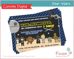 Convite Digital Star Wars