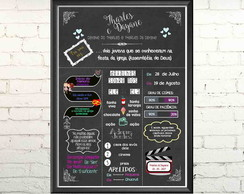 Quadro digital chalkboard Love Story