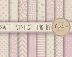 Kit Digital PAPEL VINTAGE ROSA - 946
