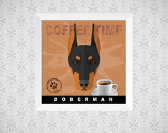 Quadro Coffee Time - Doberman