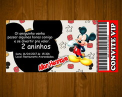 50 Convite Mickey com envelopes