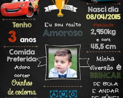 chalkboard digital carros Disney