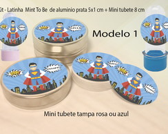 Kit Latinhas e Mini Tubetes-super heroi