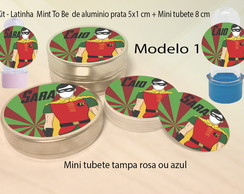 Kit Latinhas e Mini Tubetes-Robin