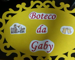 Placa oval decorada